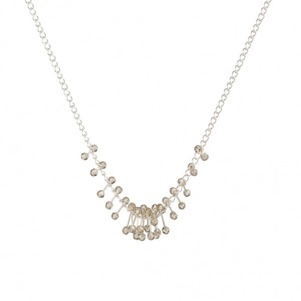 Couture Summer light Necklace Grade A Glass Matt silver Length: 41 cm
