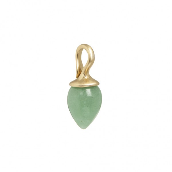 Charms Charm 2 - pack Green Aventurine worn gold
