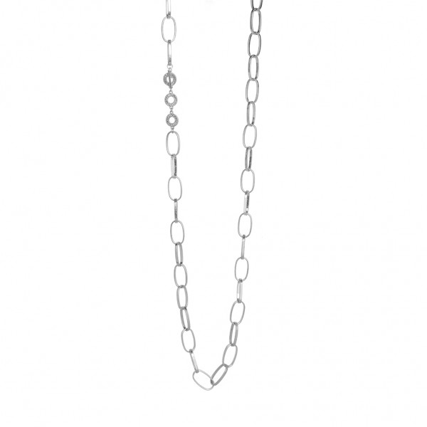 Power Necklace worn silver - 96 cm