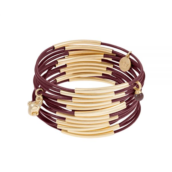 UG bracelet ginger leather Worn gold