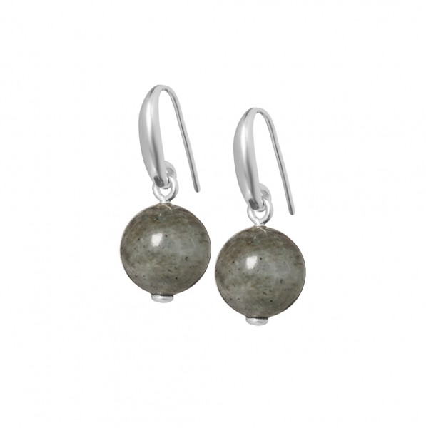 Balloon Earrings Labradorite matt silver