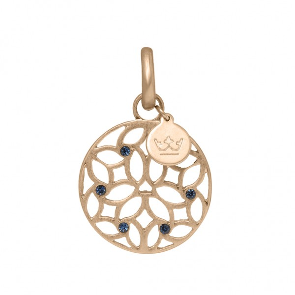 Charms Charm Blue Aventurine worn rose gold