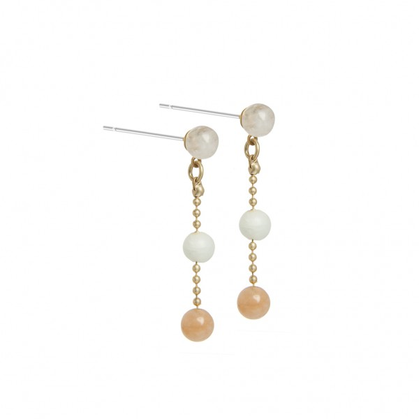 Harmony Earrings Multi-stone Worn gold