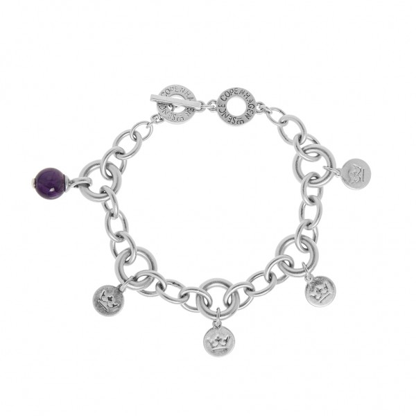 Knowledge Bracelet Amethyst worn silver