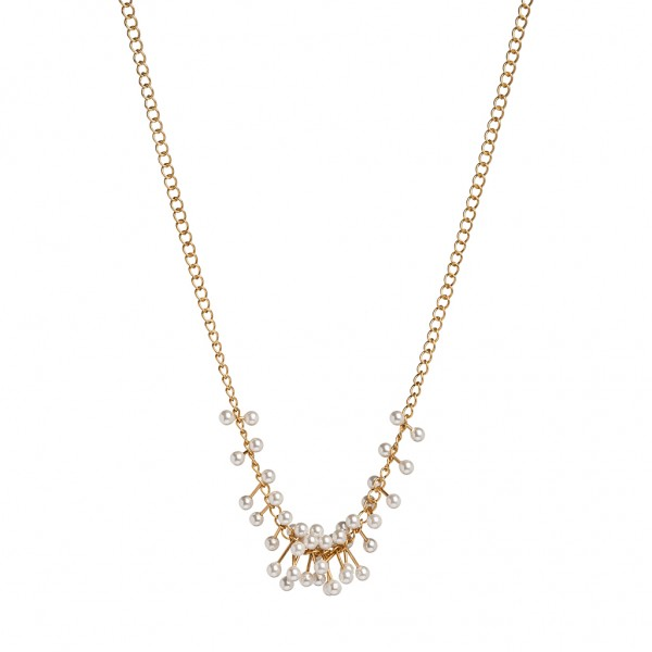 Couture Summer light Necklace Freshwater Pearl Matt gold Length: 41 cm