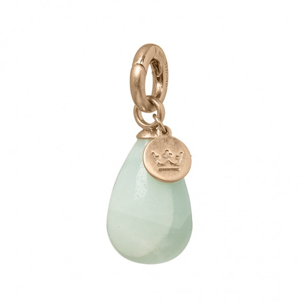 Charms Charm Amazonite worn rose gold