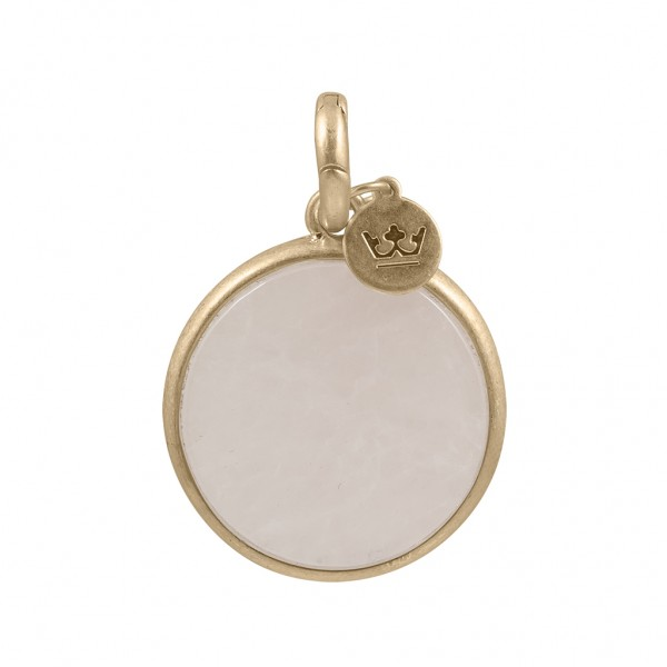 Charm Disc Worn gold