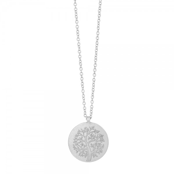 Basic Necklace Tree of Life Worn silver 90 cm