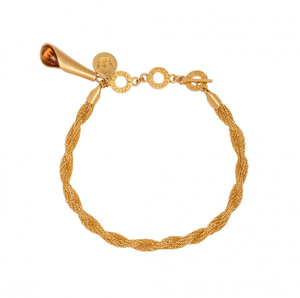 Rose Summer light Bracelet Grade A Glass Matt gold