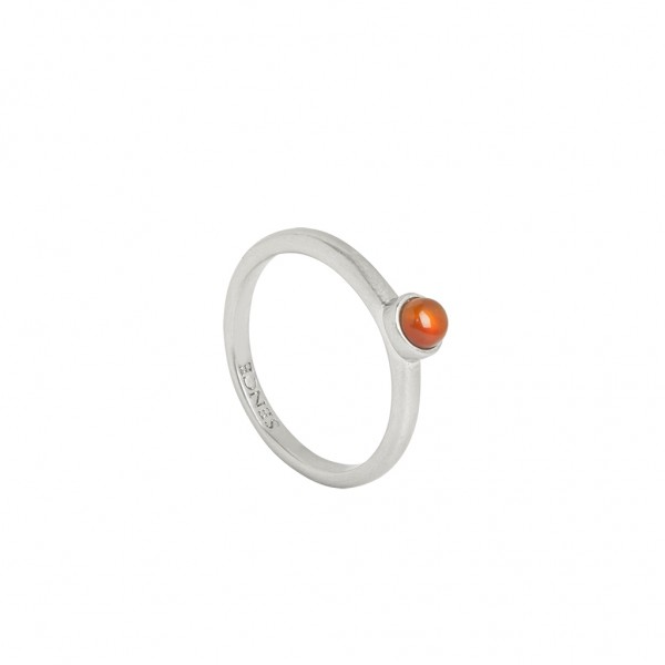 Sirlig Ring Red Agate worn silver S7