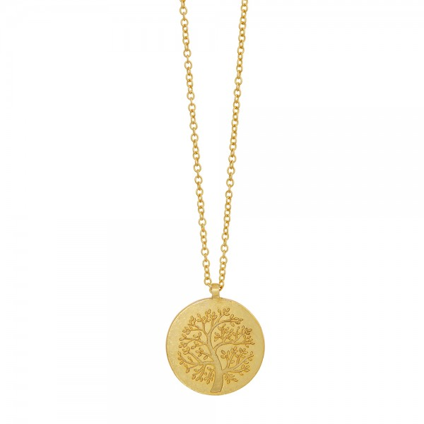 Basic Necklace Tree of Life Worn gold 90 cm