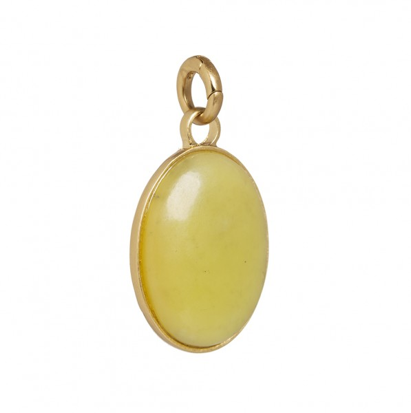 Charms Charm Lemon Jade Matt gold