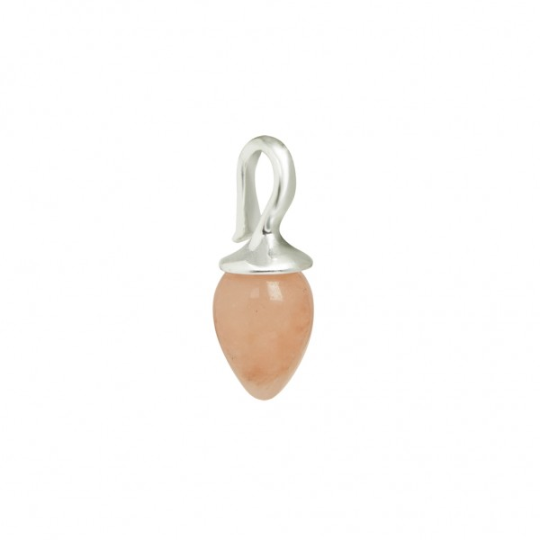 Charms Charm 2 - pack Pink Jade worn silver