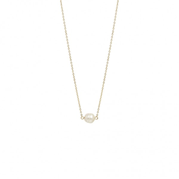 Sirlig Necklace Freshwater Pearl worn gold - 45 cm