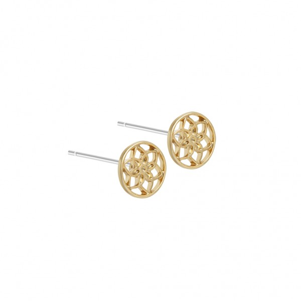 Mindfulness Earstuds worn gold