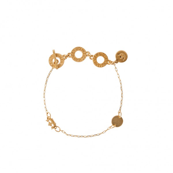 Shadow Summer light Bracelet Matt gold