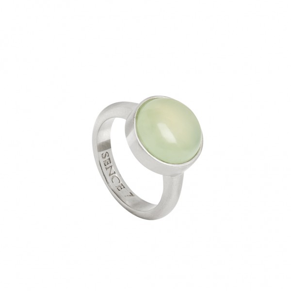 Mindfulness Ring New Jade worn silver S8