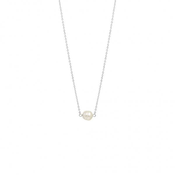 Sirlig Necklace Freshwater Pearl worn silver - 45 cm